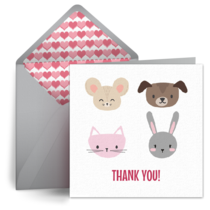 Pet Thanks card image