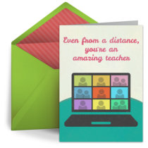 Distance Teaching Thank You card image