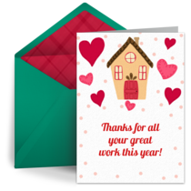Happy Holiday House card image