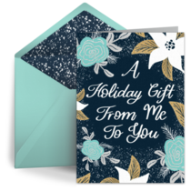 A Holiday Gift card image