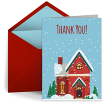 Winter House Thanks card image