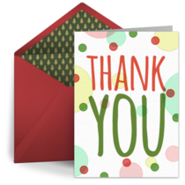 Holiday Thank You Dots card image