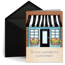 Thank You, Customers card image