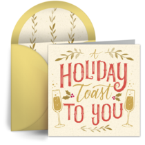 Holiday Toast Thanks card image