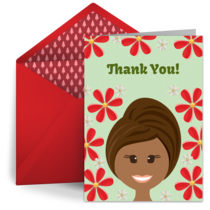 Thank You Hairdresser card image