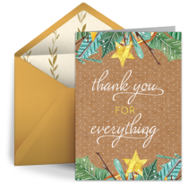 Rustic Thank You card image