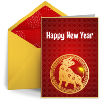 Year of the Ox 2021 card image