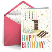 Happy Birthday Cake card image