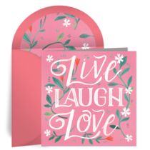 Live. Laugh. Love. card image