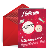 Love You To The Moon And Back card image