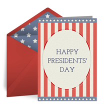 Presidents' Day | Feb 15 card image