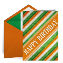 St. Patrick's Day Happy Birthday card image