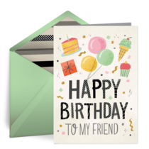 Happy Birthday, Friend card image