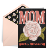Mom, You're Amazing card image