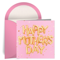 Mother's Day Balloons card image