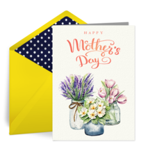 Mother's Day Vases card image