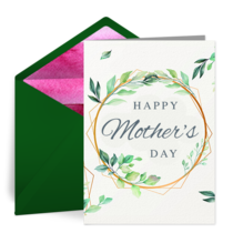 Mother's Day Foliage card image