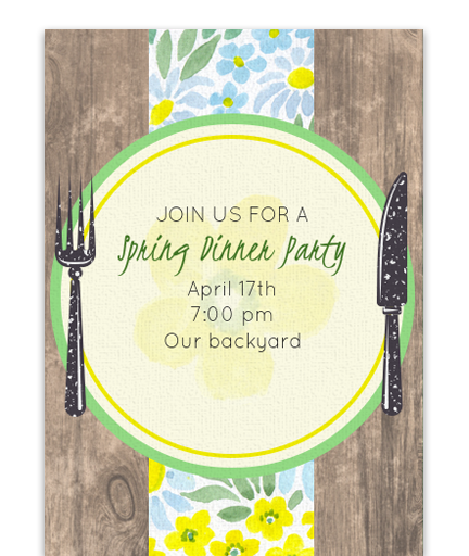 Rustic Spring Dinner Party