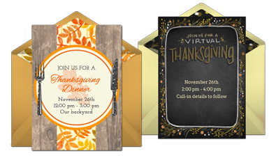 Browse Thanksgiving Invites
