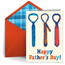 Father's Day Ties card image