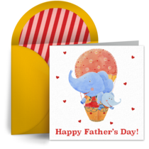 Daddy Elephant card image