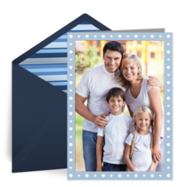 Father's Day Dot Photo card image