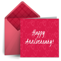 Anniversary Pink Hearts card image