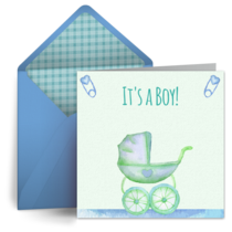 Baby Carriage (Boy) card image