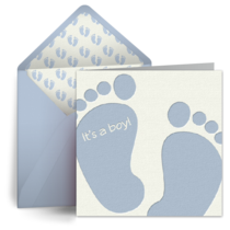 Baby Feet (Boy) card image