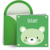 Baby Bear Green card image