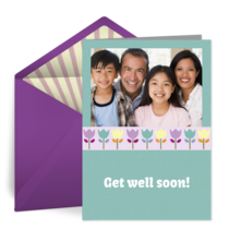 Get Well Photo Tulips card image