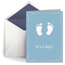 Baby Boy Feet card image