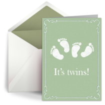 Baby Twins Feet card image
