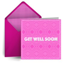 Get Well Retro Pink card image