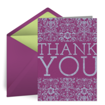 Vibrant Thanks card image