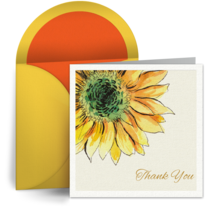 Thanks Sun Flower card image