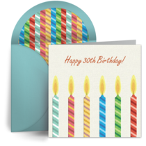 Milestone Birthday Candles card image
