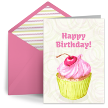 Birthday Cupcake card image