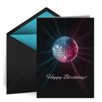 Birthday Disco Ball card image