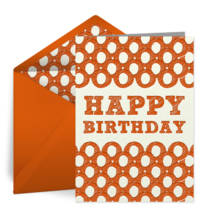 Birthday Pattern for Him card image