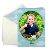 Kids Birthday Balloon Photo card image