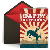 Cowboy Birthday card image