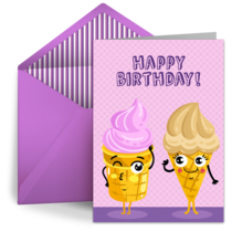 Ice Cream Birthday card image