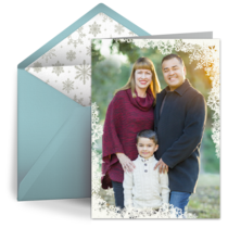 New Year Snowflake Frame card image