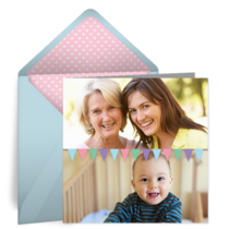 Birthday Photo Ribbon card image