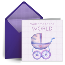 Welcome to the World card image