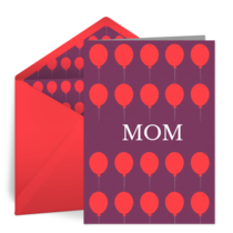 Birthday Balloons for Mom card image