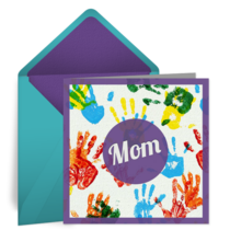 Finger Painting for Mom card image