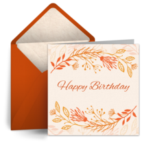 Orange Flowers card image