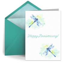 Dragonflies card image